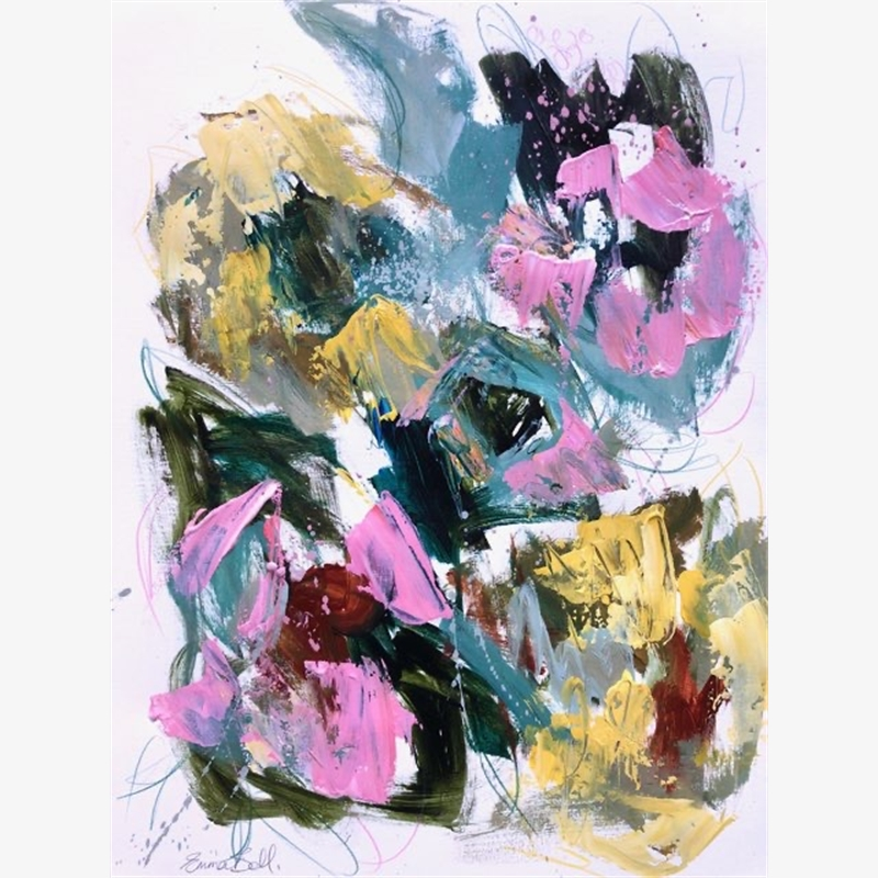 Pink & Yellow Flowers, 2019