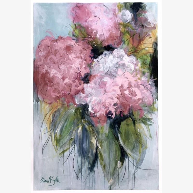 Pink Hydrangeas Print 3, 2019