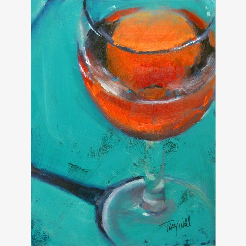 Turquoise Blush(wine study)