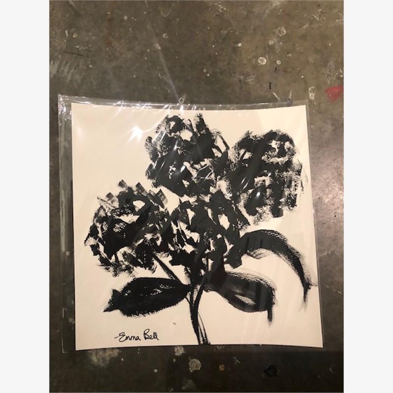 Black & White Four Hydrangeas, 2018