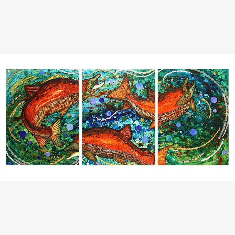 Cosmic Surge (Triptych)