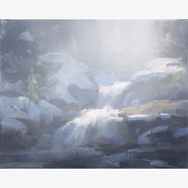 Snow on Copeland Falls Study