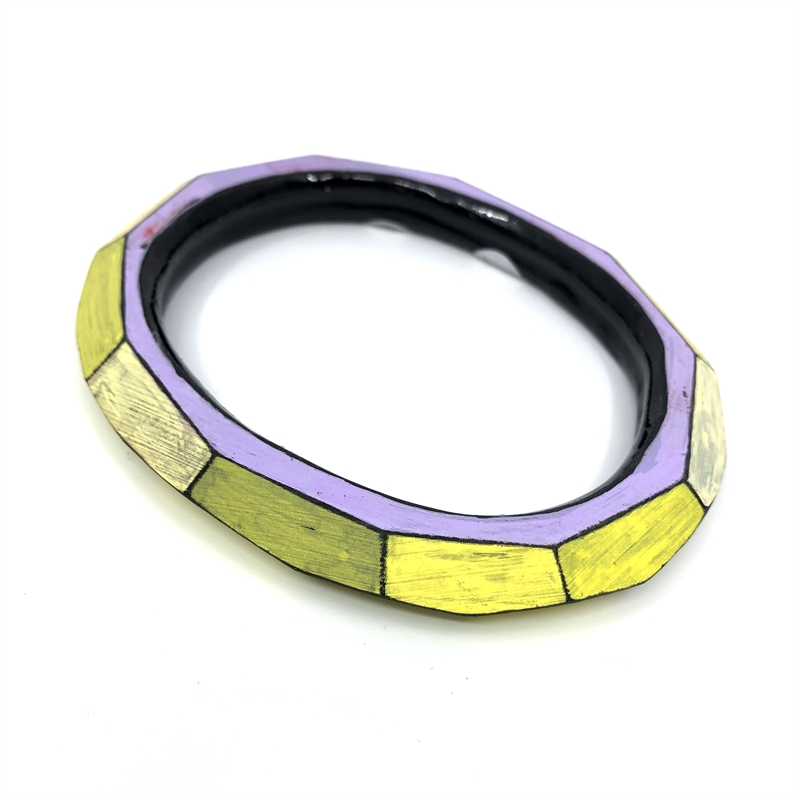 Bangle (yellow/lavender), 2019