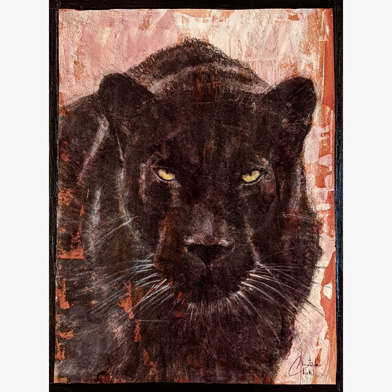Sepia Cats, Black Panther by Christopher Clark