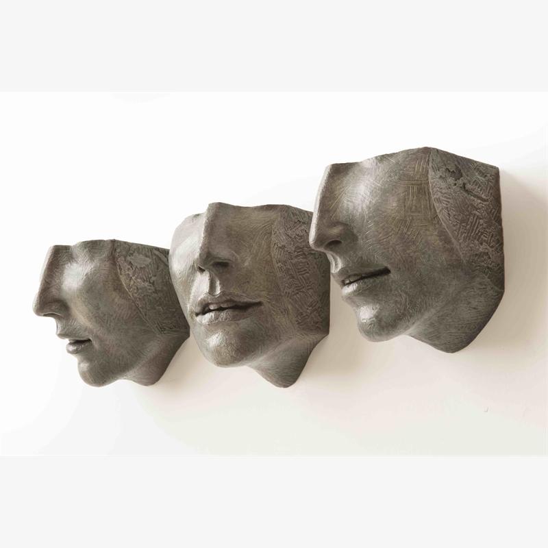 Small Face Fragments VII, VIII, IX