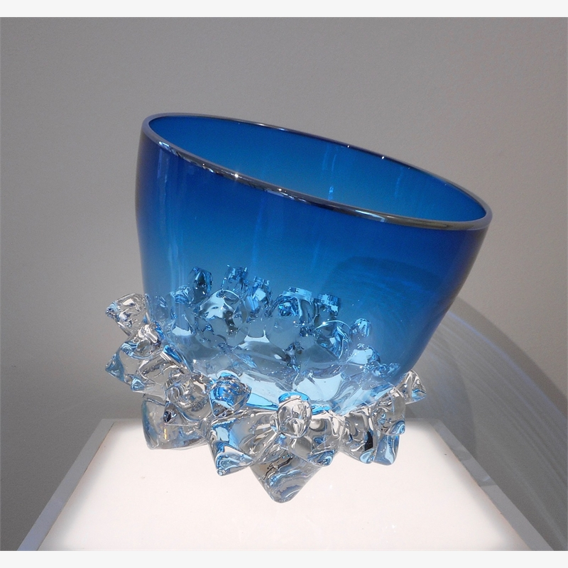 Medium Thorn Vessel VII (Aqua/Silver), 2019