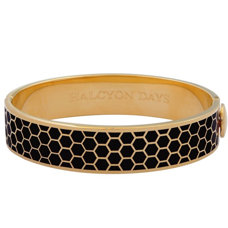Gold Plated Honeycomb Bangle  by Halcyon Days
