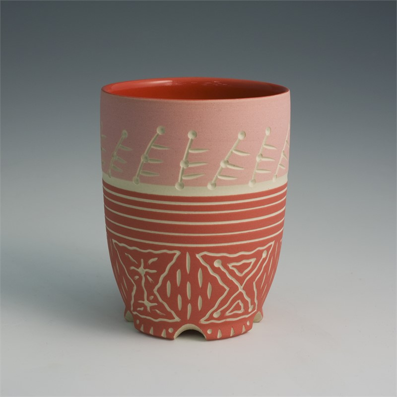Cup (Red/lines), 2019
