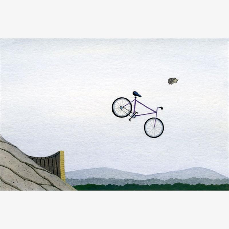 Hedgehog, Bike, Ramp, 2019