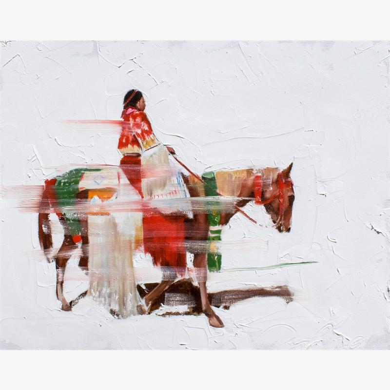 Vanishing Series:  Women's Traditional Horseback on Red, Volume I, 2019