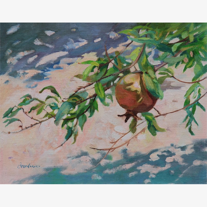 Pomegranate at Ten O'Clock by Linda Tracey Brandon