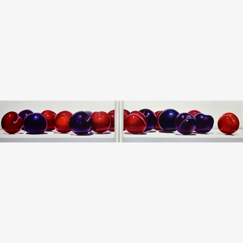 17 Plums (Diptych) by Suzy Smith