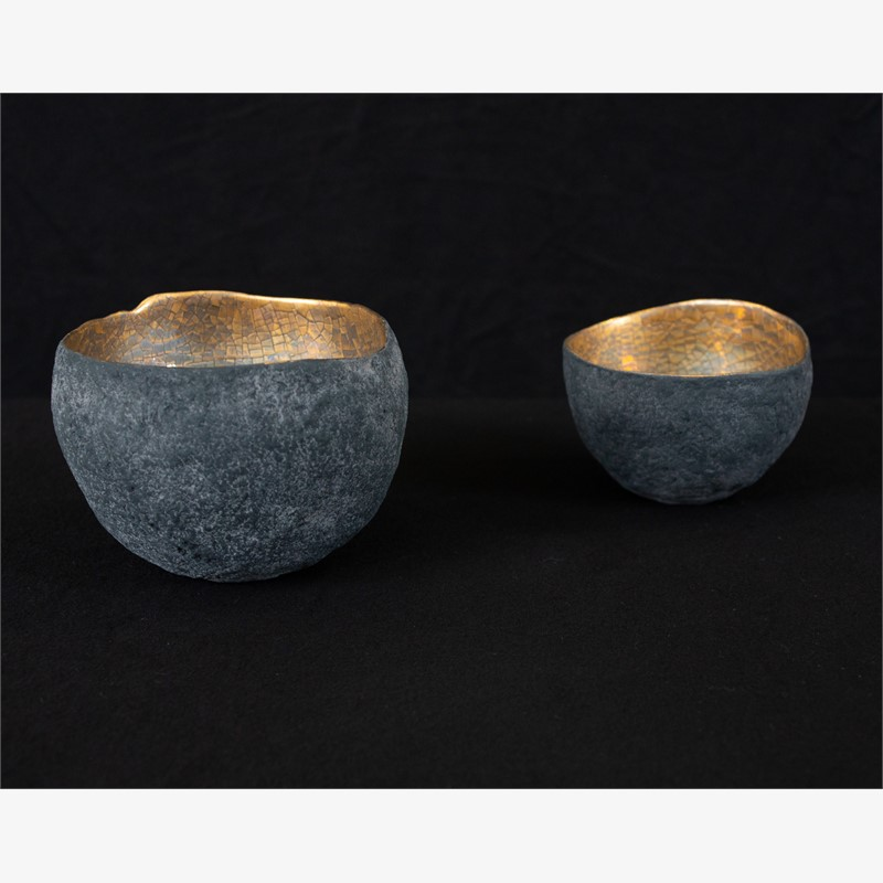 small bowl with platinum and gold, 2019