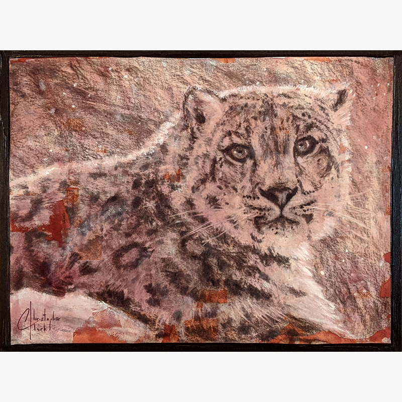 Sepia Cats, Snow Leopard by Christopher Clark