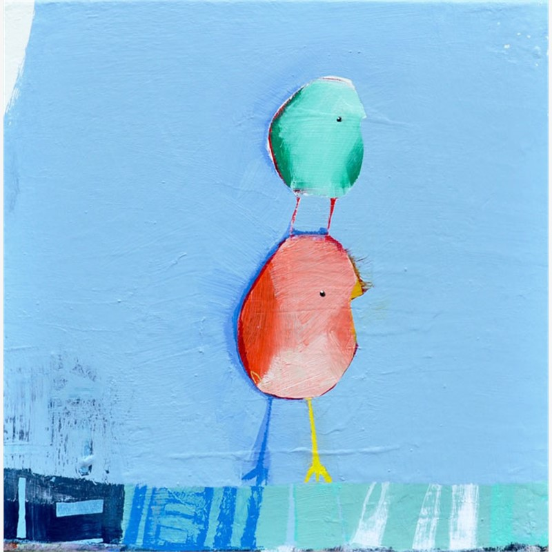 Birds on Blue, 2018