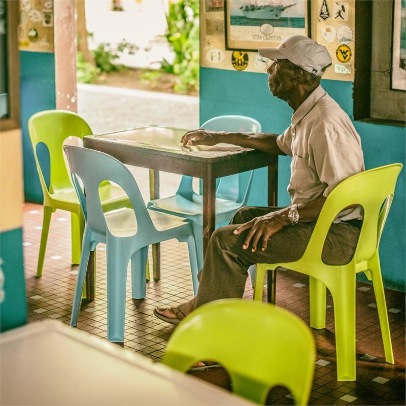 Old Man at Le Select (1/25), 2015