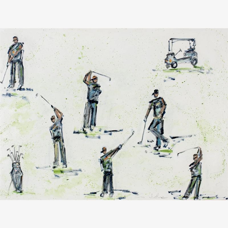#448 Pastel Golfers on White, 2019