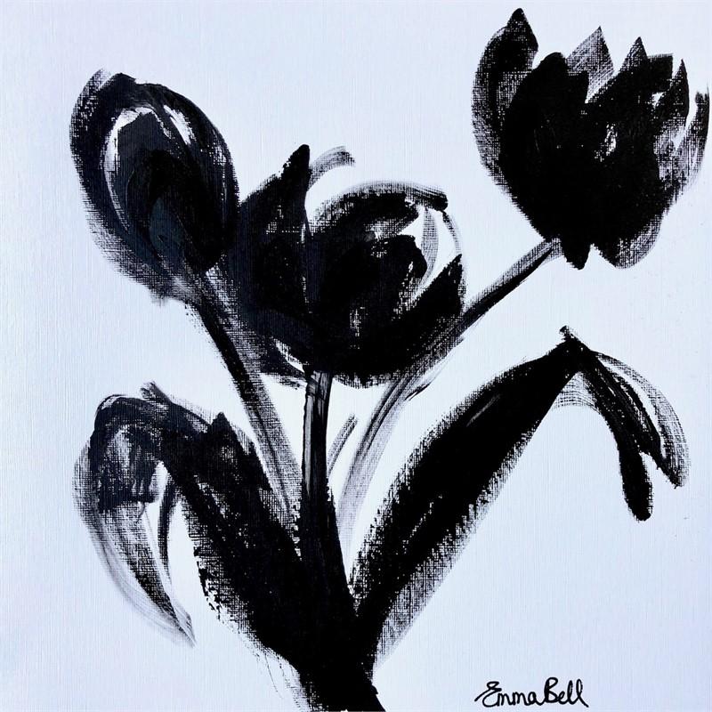 Black & White 3 Tulips , 2018