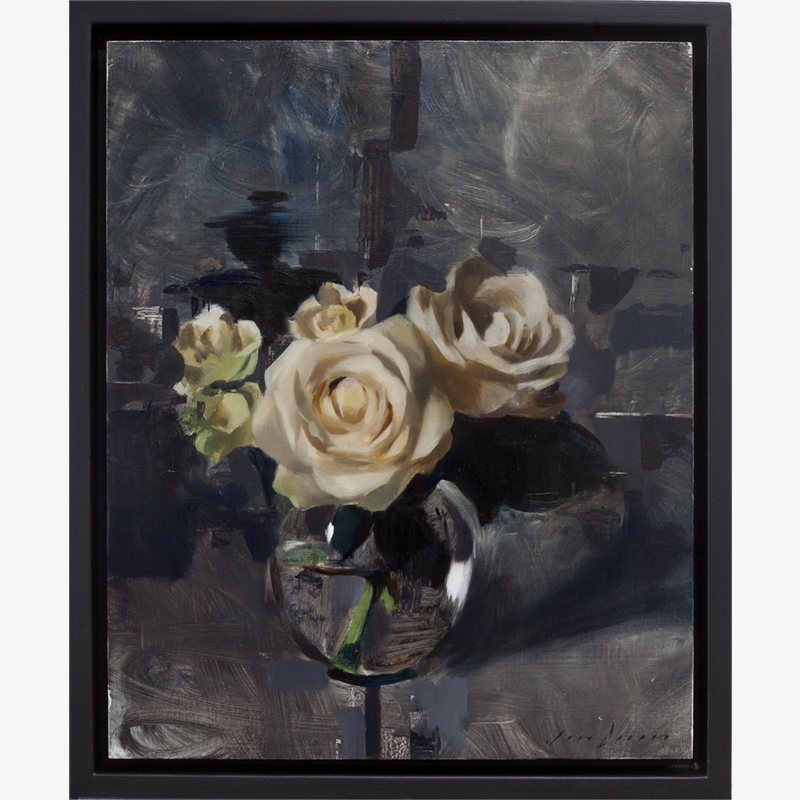 White Roses and Dark Grey