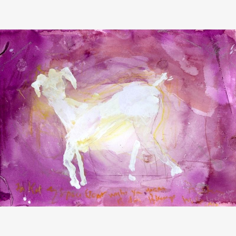 Space Goat Print (1/2), 2011