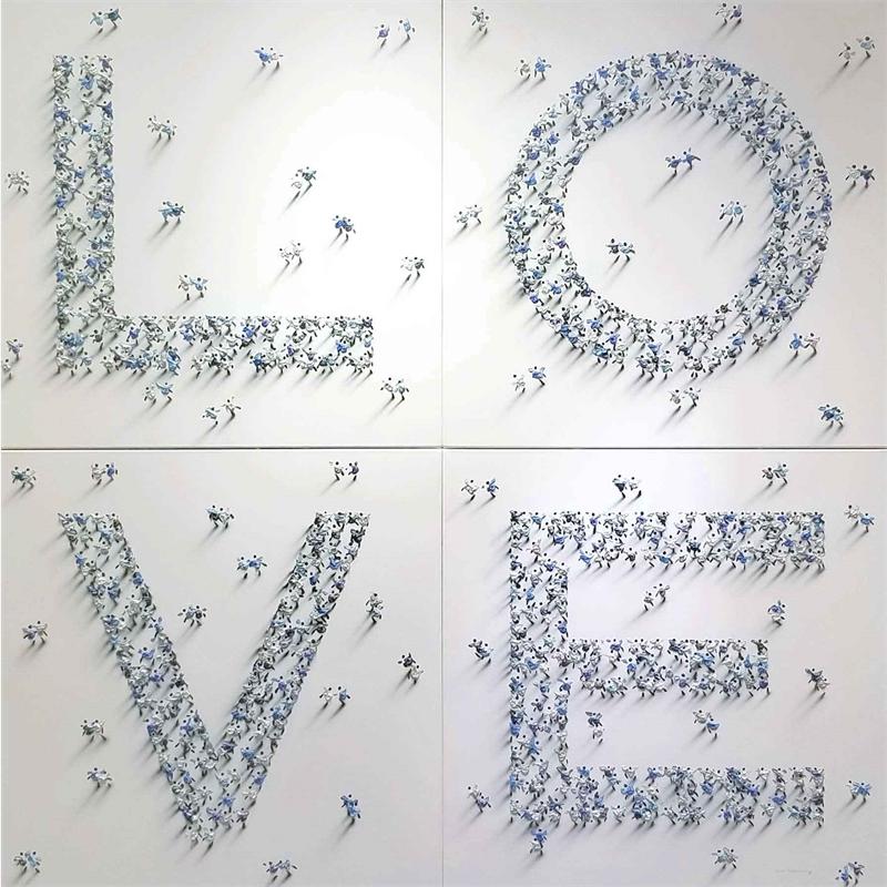 LOVE (Blue Silver)