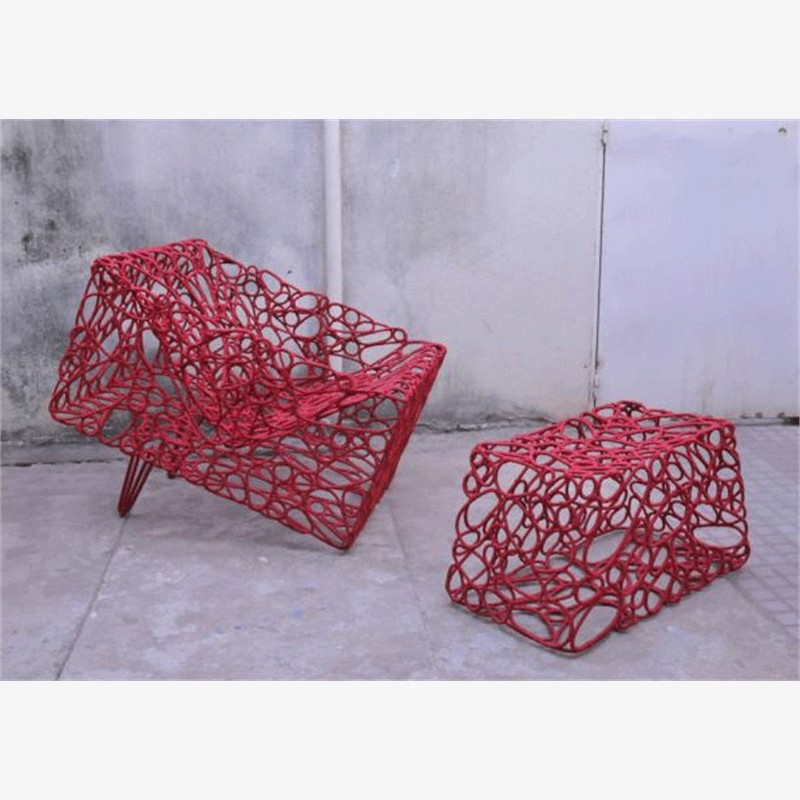 Hand woven armchair, 2019