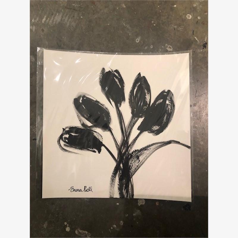 Black & White Tulips III, 2018