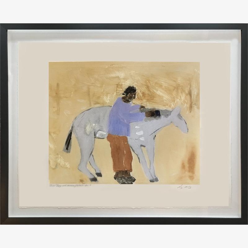 Blue Pony and a Groom , 2018