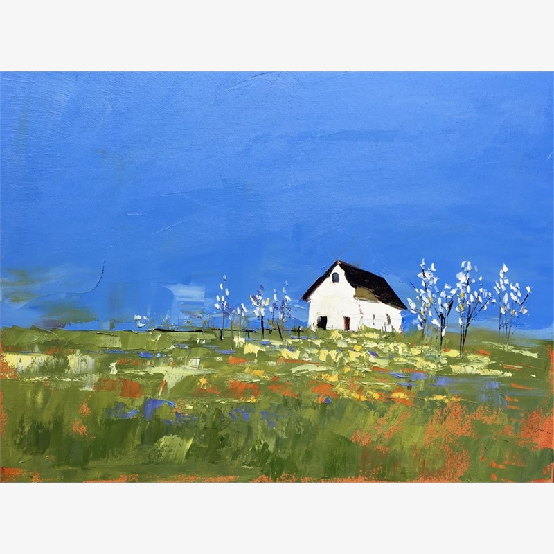 White Barn in Summer