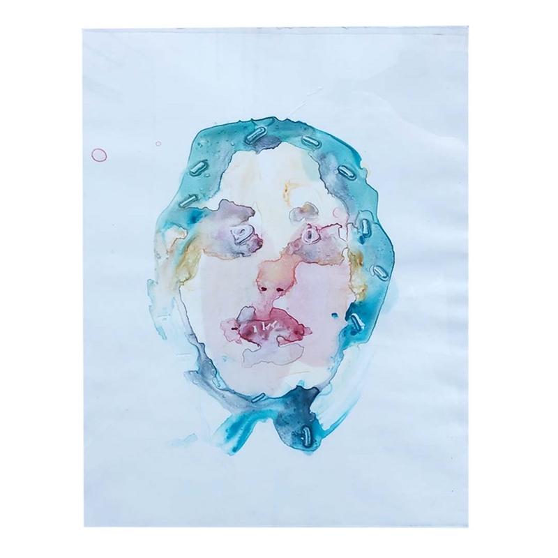 Cyan Headscarf by Liza Sokolovskaya