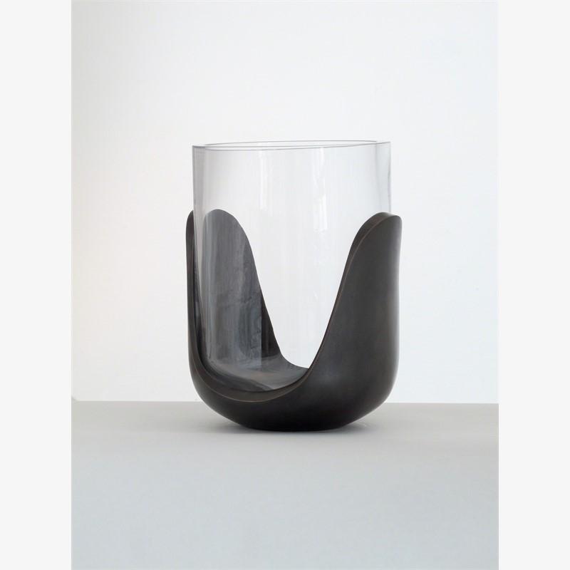 """""""Hill"""" Bronze vase by Eric Schmitt"""