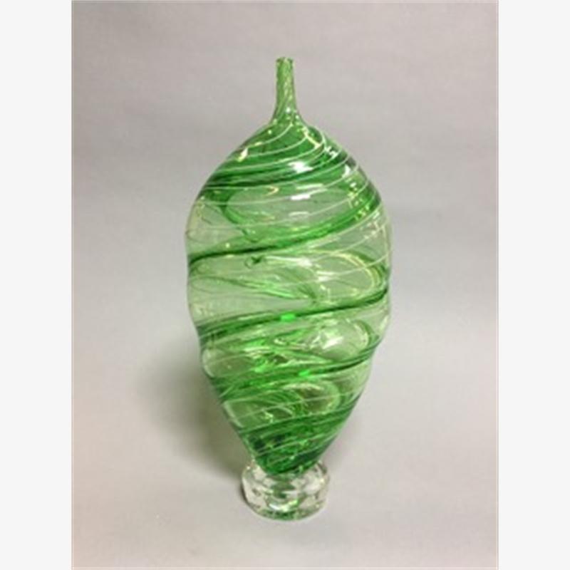 Green Spiralli Vessel II
