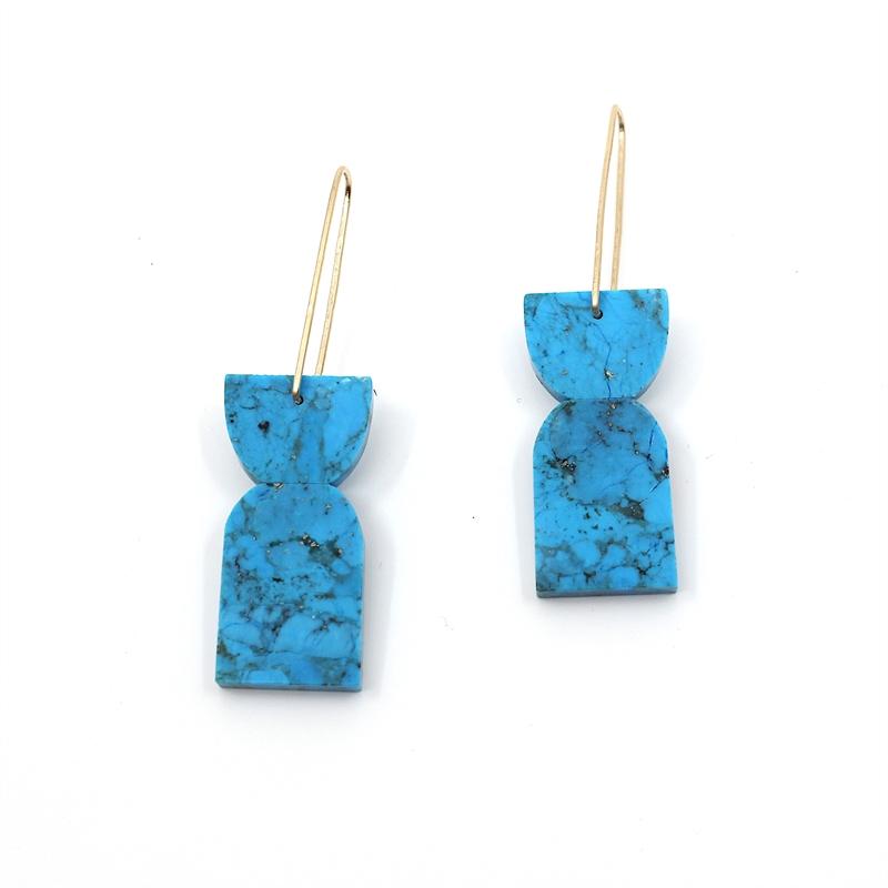 Dyed Magnesite Earrings, 2019