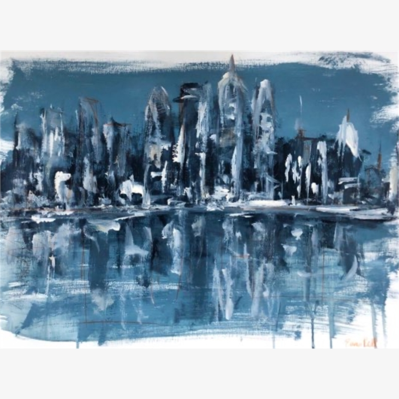 Midnight Blue City Reflections, 2019