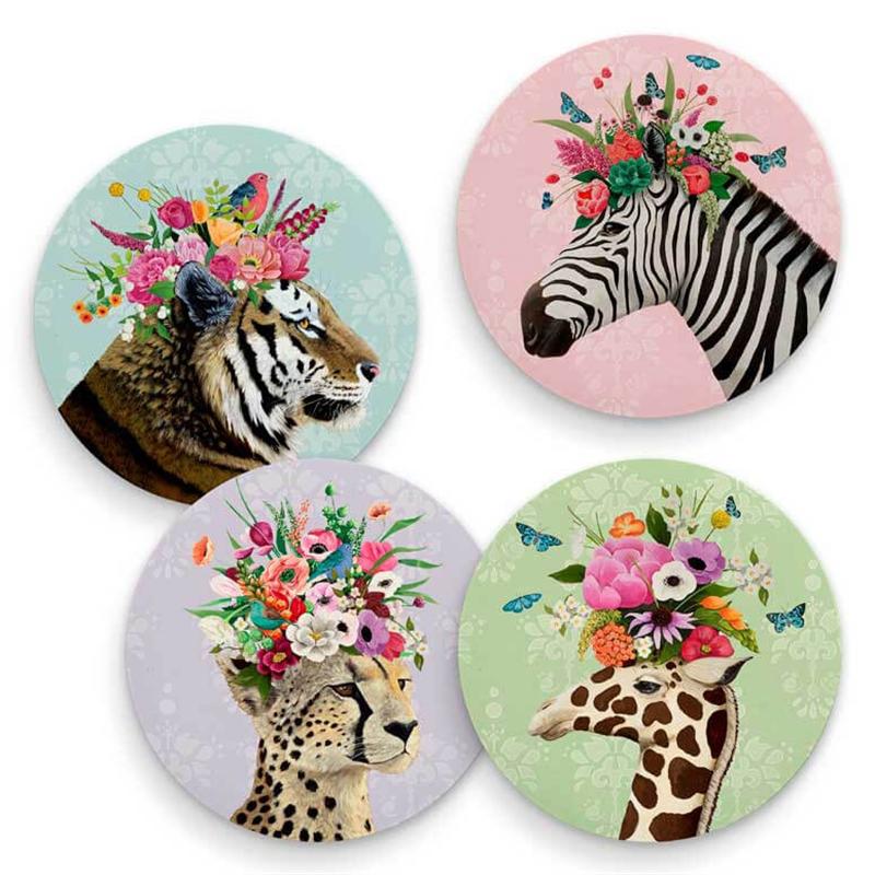 Haute Jungle Coasters (Set of 4), 2020