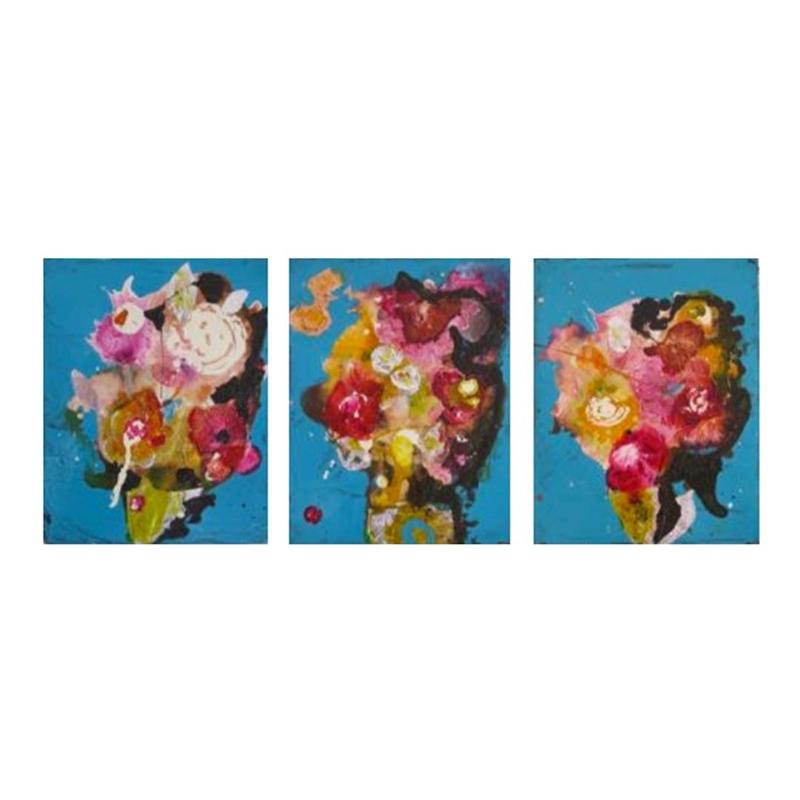 Bouquet Triptych (Marshmallow, Penny, Elephante), 2011