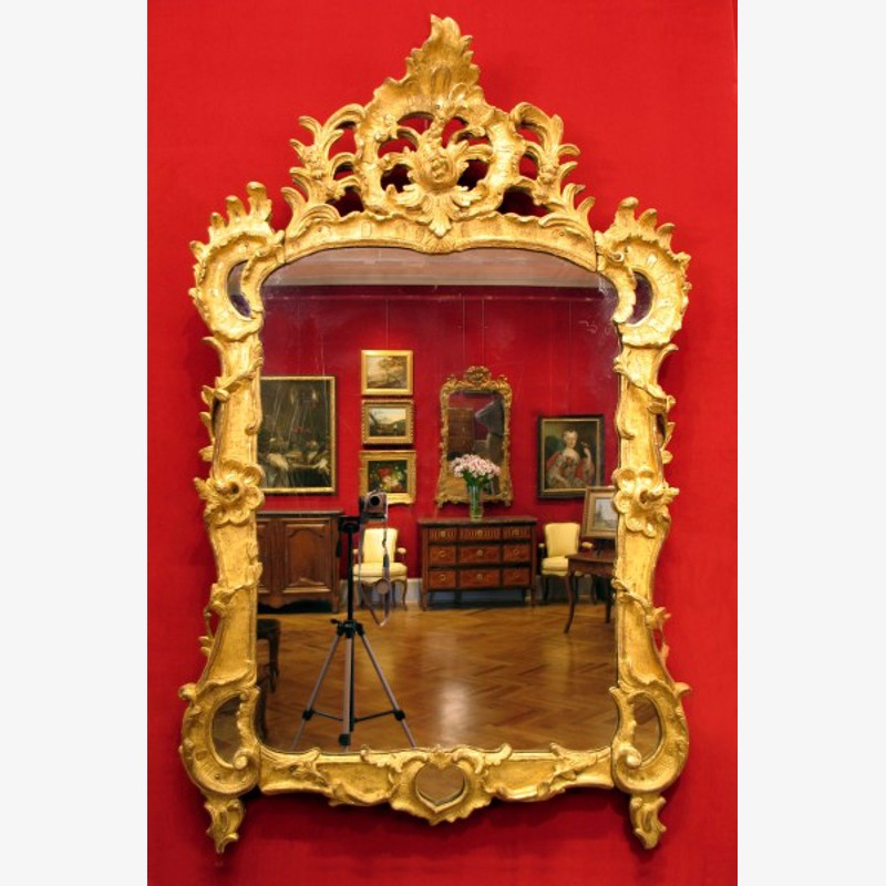 Wall Mirror Period Louis XV, Middle 18th Century