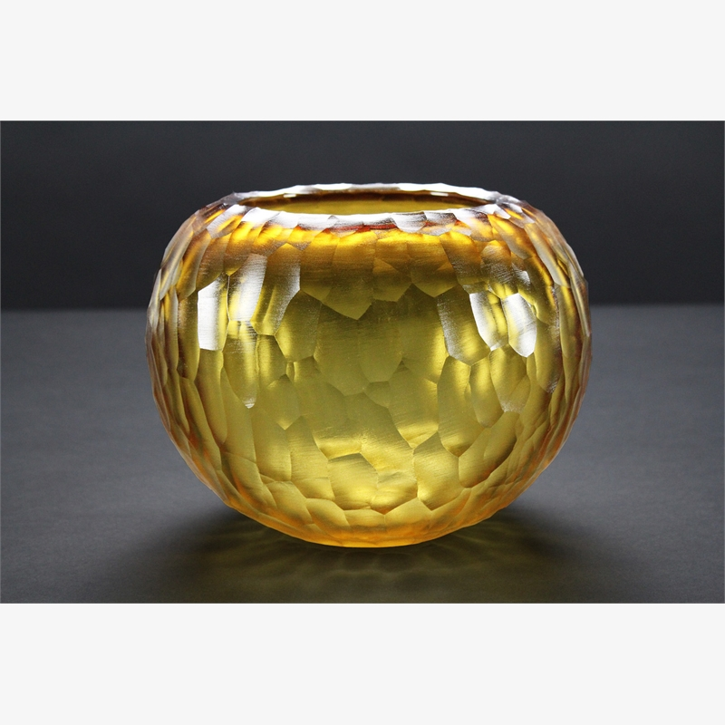 Gold Faceted Vessel, 2018