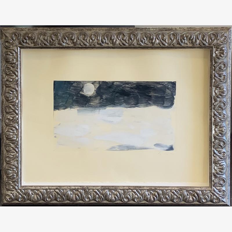 Moon Over Winter Sea