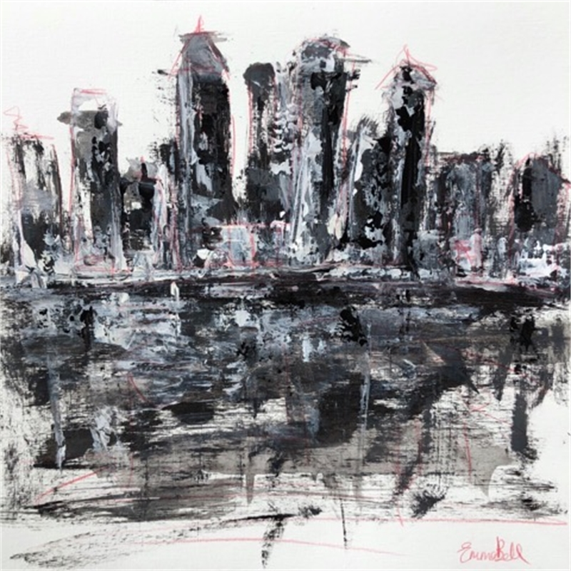 City Reflections with Red, 2019