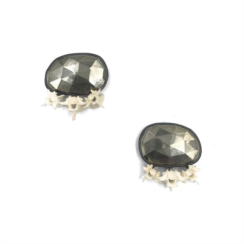 Pyrite Amnio Earrings, 2019