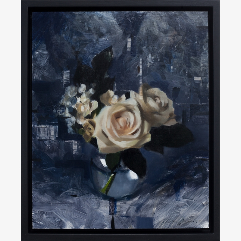 White Roses and Dark Blue