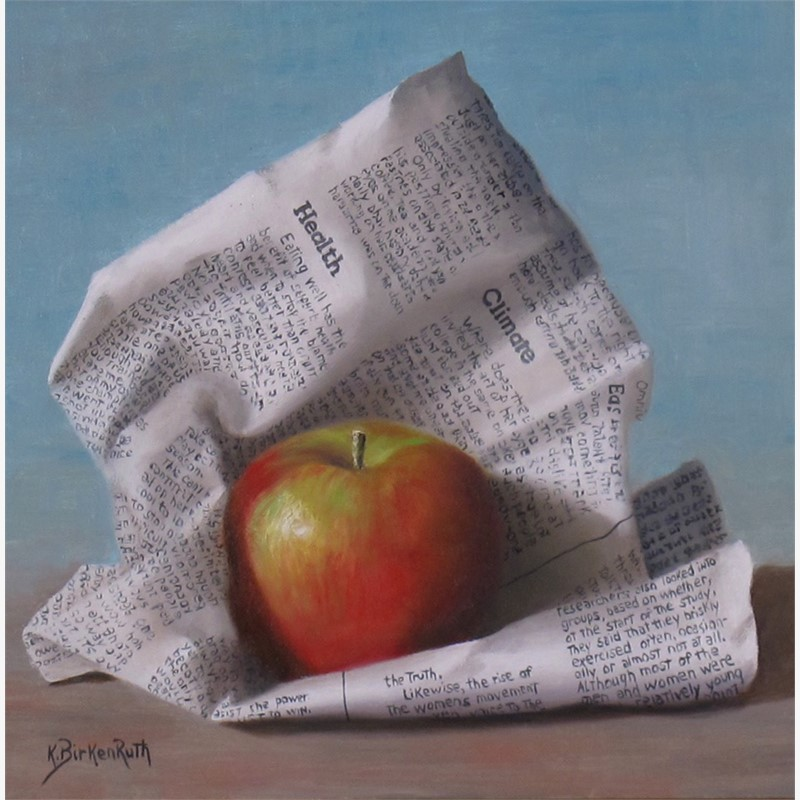 Wrapped Apple by Kelly Birkenruth
