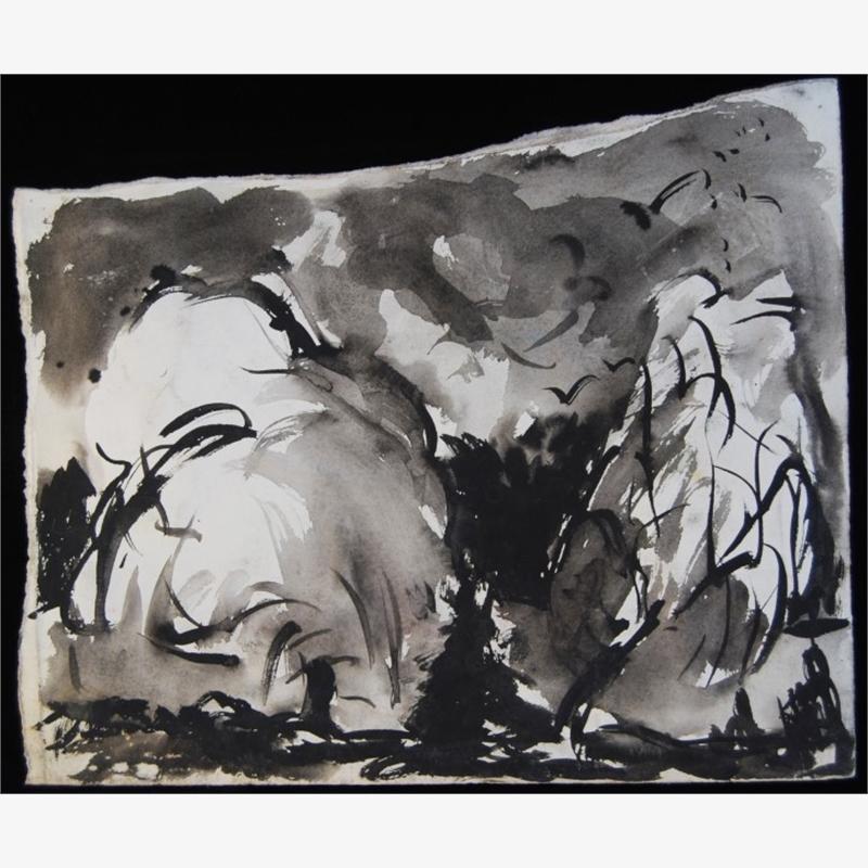 Sumi Ink Landscape, 1981