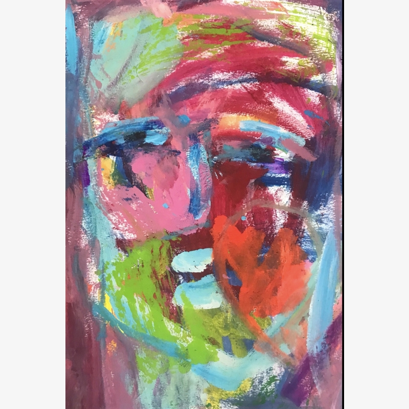 Large Colorful Face, 2019