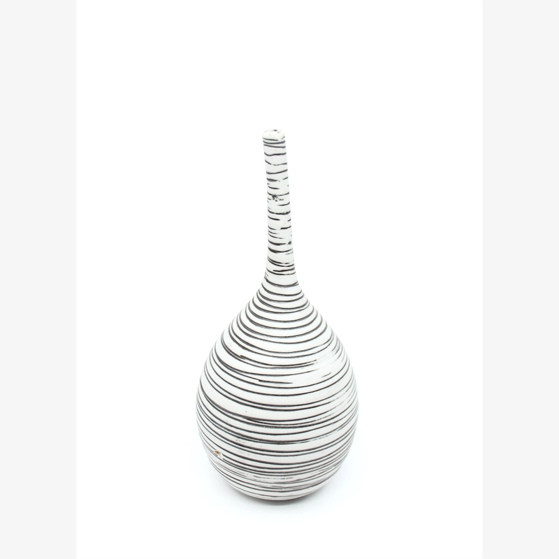 Small Vase with Black Lines I, 2019