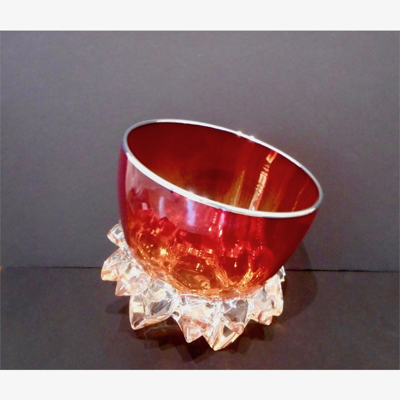 Small Thorn Vessel XVIII (Cherry Red/Silver), 2019