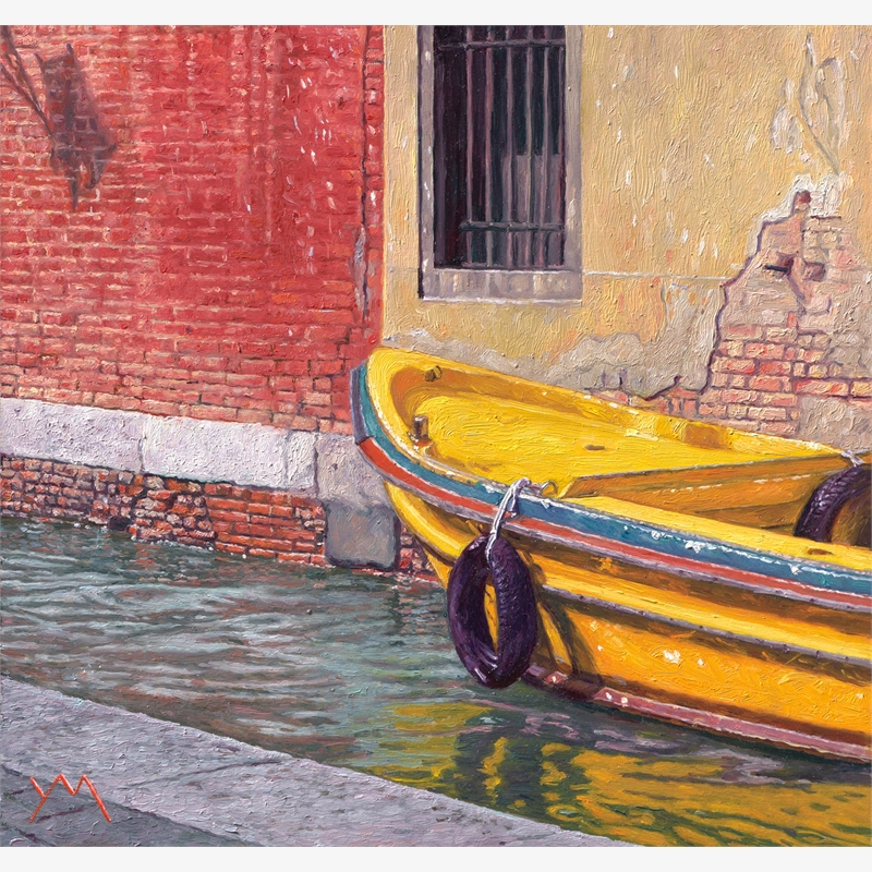 Reflections I (Autumn in Venice) by Yvonne Melchers