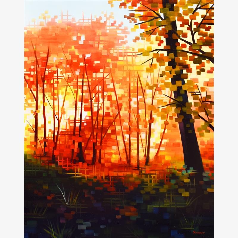 The Perfect Path Michelle Condrat Landscape Sunrises Sunsets Tree Canvas 11×14