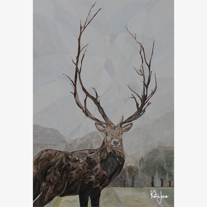Elk Print 4, 2018